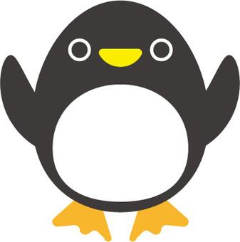 Puppy penguin illustration