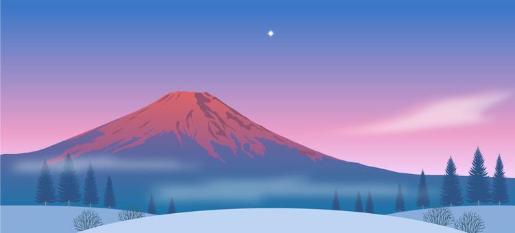 Red Fuji Illustration