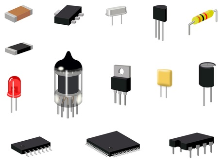 Set of electronic components