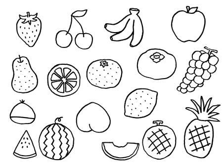 果物(線画)