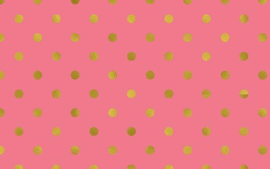 Dot pattern pink gold