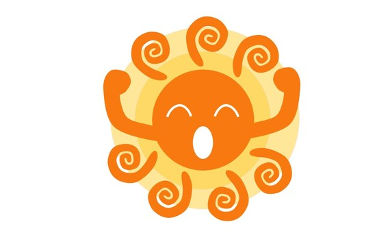 A healthy sun (with a face)