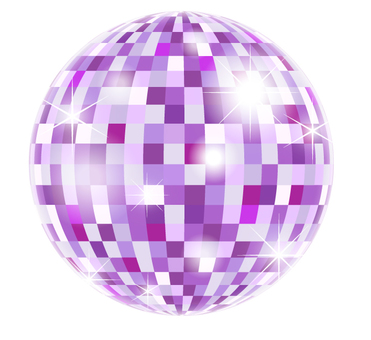 Mirror ball _ purple