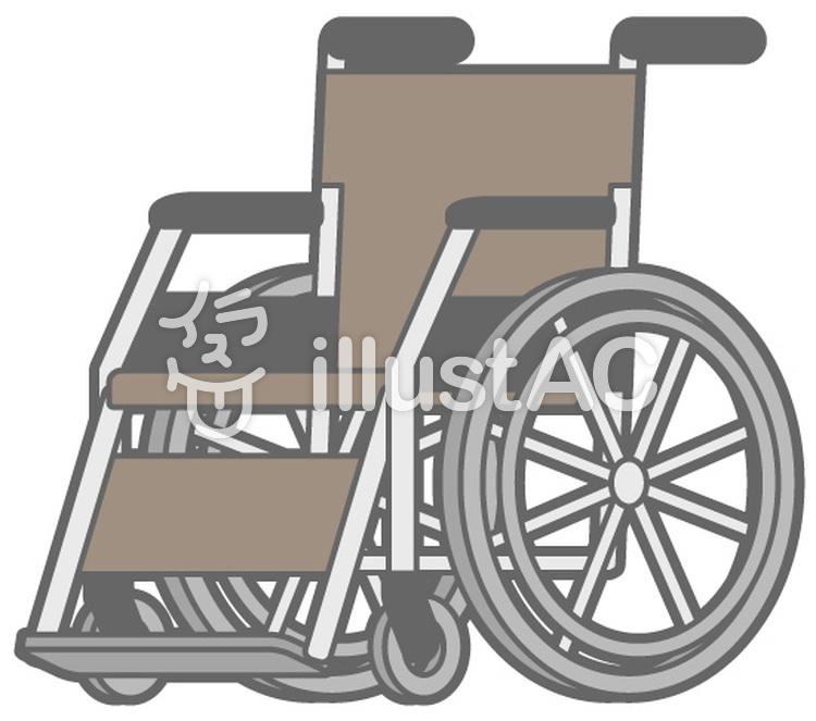 車椅子-茶のイラスト