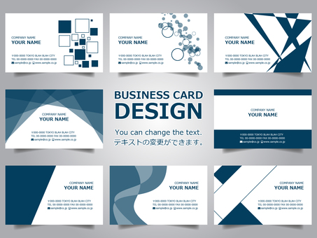 Business card design set