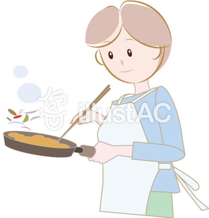 料理する女性1イラスト No 1280228無料イラストならイラストac