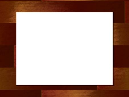 Wood frame brown