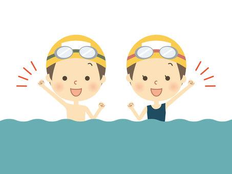 수영복 초등학생 4