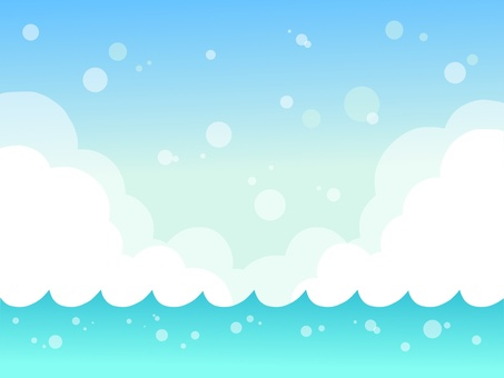 Illustration of refreshing sea and sky