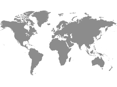 World map _ silhouette 2