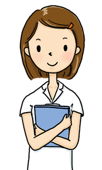 Nurse with medical records