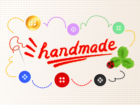 Fun handmade handwriting style _ button