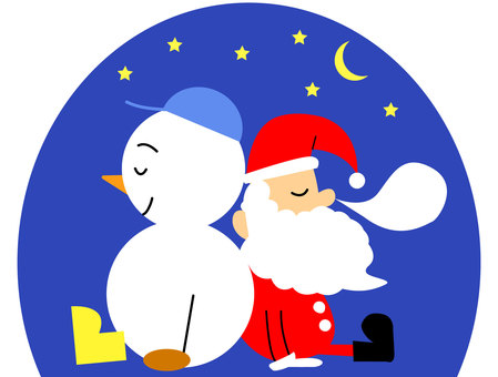 Sleeping Santa and Snowman 2