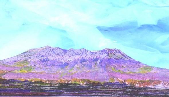 初秋的山脈
