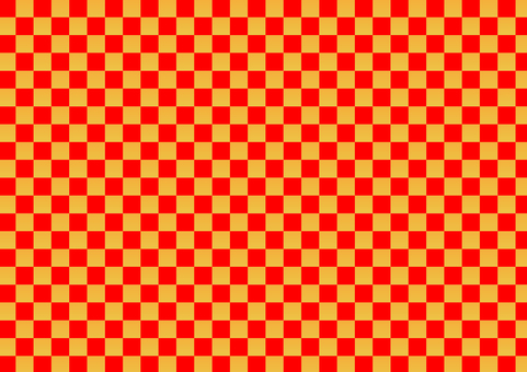 Checkered pattern (red × gold)