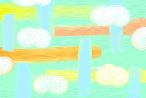 Abstract background cloud city