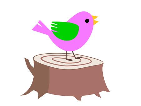 작은 새와 그루터기 1