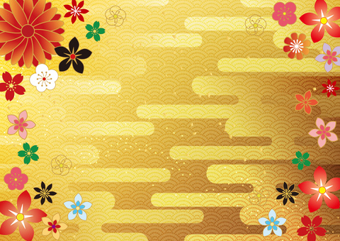 First month _ and handle _ gold foil _ background
