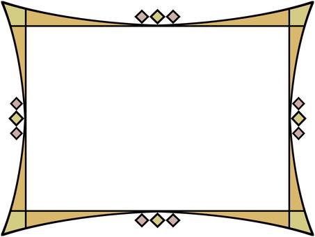 彩色玻璃風框架簡單的盒子
