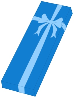 Present box blue