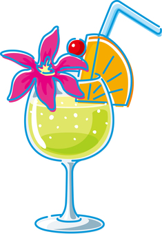 Summer image Tropical drink