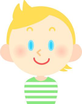 A blonde boy