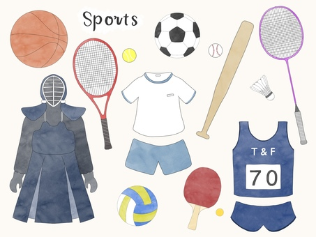 Illustration set of club activities