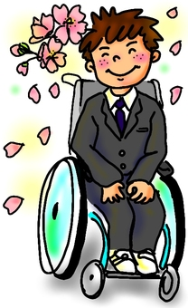 Wheelchair Admission Graduation Join Boy Color