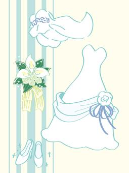 ウェディングドレスのセット