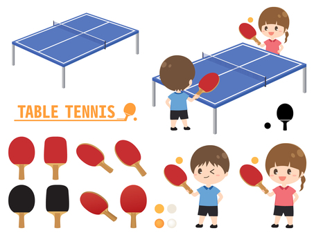 Table tennis racket and character set