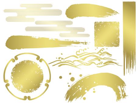 Various d_ Blue Gold _ transparent _ cs
