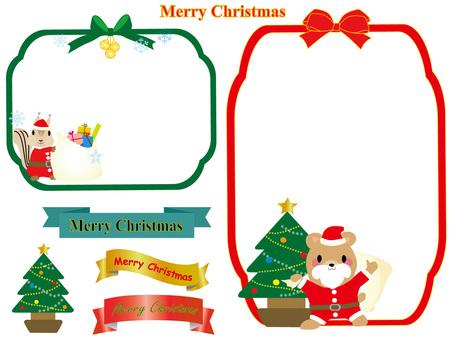 圣诞节动物圣诞老人2