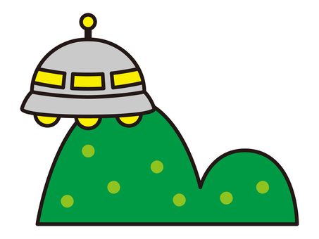 ufo and mountains