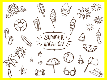 Summer Vacation Fashion Line Art Material Assortment