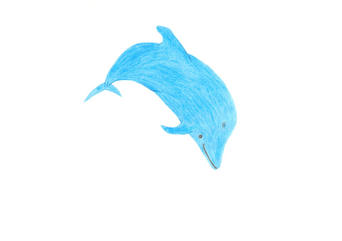 Dive dolphins (colored pencil)
