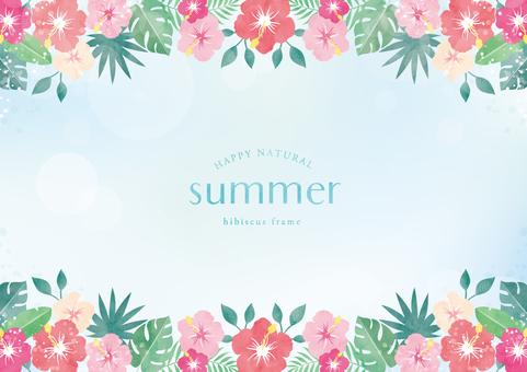 Summer background frame 058 Hibiscus