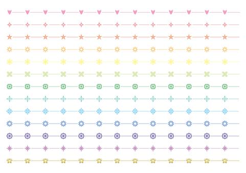 21-line, decorative line set 4 light color system