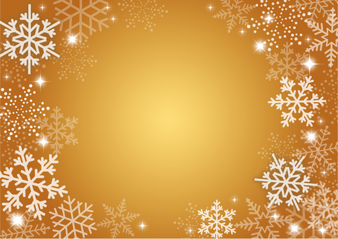 Winter snow background gold
