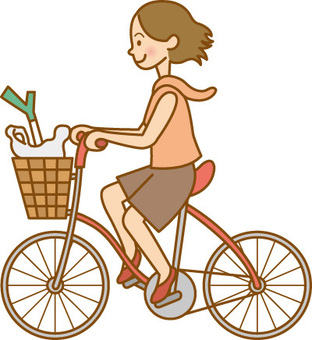 Donne / Shopping in bicicletta