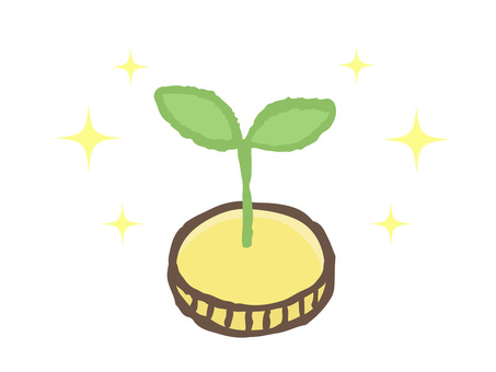 Sprout from a coin