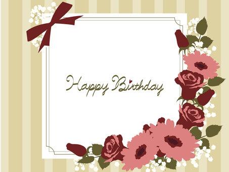 Rose and Gerbera's birthday card