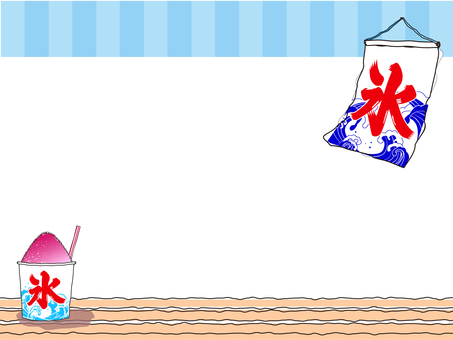 Ichigo-flavored Oyster Ice and Ice Flag