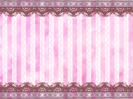 Watercolor stripe with lace background Pink