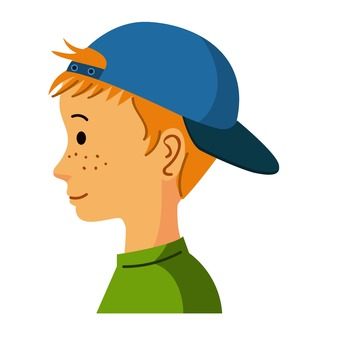 Profile of a boy