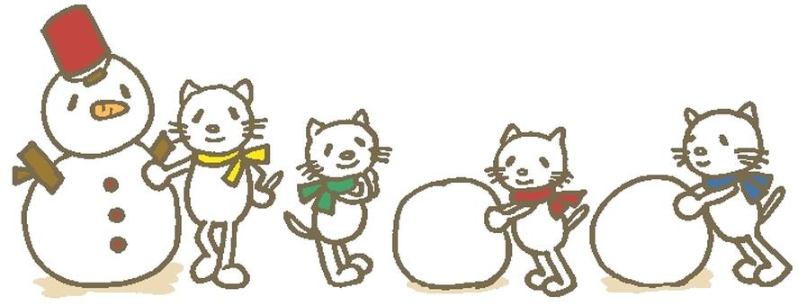 Snowman Baby cat