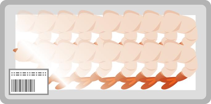 Peeled shrimp pack