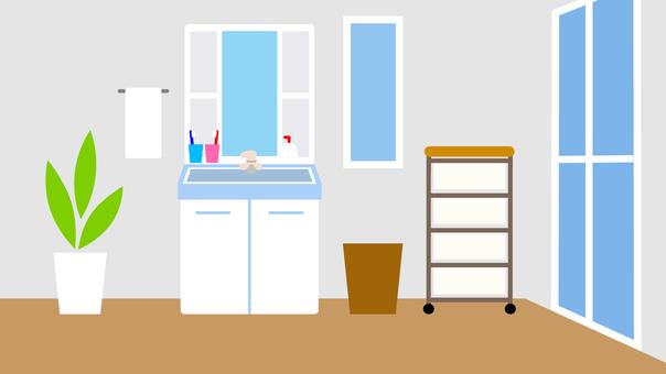 簡単な家 洗面所 背景 ワイド 16:9