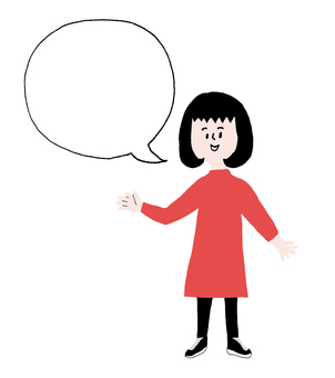 Speech bubble woman