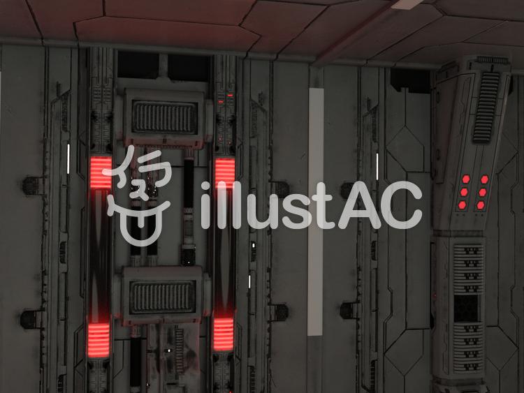 宇宙船内の壁のイラスト