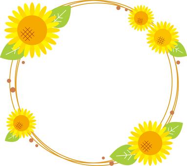 Sunflower circle frame